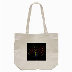 Beautiful Peacock Feather Tote Bag (cream) by BangZart