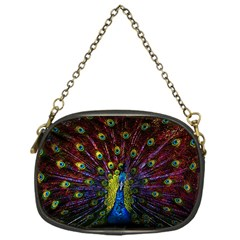 Beautiful Peacock Feather Chain Purses (one Side)  by BangZart