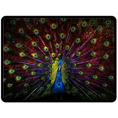 Beautiful Peacock Feather Double Sided Fleece Blanket (large)  by BangZart