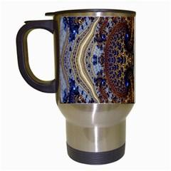 Baroque Fractal Pattern Travel Mugs (white) by BangZart