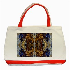 Baroque Fractal Pattern Classic Tote Bag (red) by BangZart