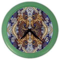 Baroque Fractal Pattern Color Wall Clocks by BangZart