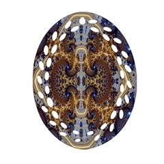 Baroque Fractal Pattern Ornament (oval Filigree) by BangZart