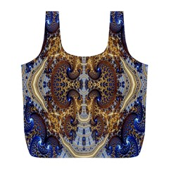 Baroque Fractal Pattern Full Print Recycle Bags (l)  by BangZart