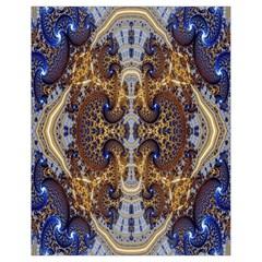 Baroque Fractal Pattern Drawstring Bag (small) by BangZart