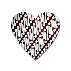 Batik Art Patterns Heart Magnet by BangZart
