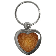 Batik Art Pattern Key Chains (heart)  by BangZart