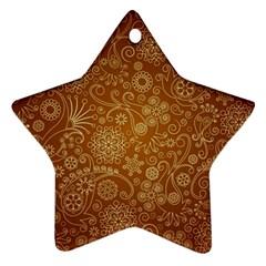 Batik Art Pattern Star Ornament (two Sides) by BangZart