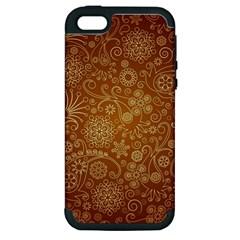 Batik Art Pattern Apple Iphone 5 Hardshell Case (pc+silicone) by BangZart