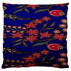Batik  Fabric Large Cushion Case (two Sides) by BangZart