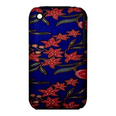 Batik  Fabric Iphone 3s/3gs by BangZart