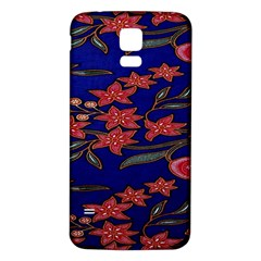 Batik  Fabric Samsung Galaxy S5 Back Case (white) by BangZart