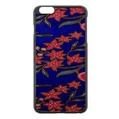 Batik  Fabric Apple Iphone 6 Plus/6s Plus Black Enamel Case by BangZart