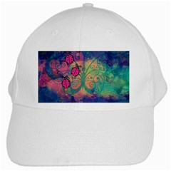 Background Colorful Bugs White Cap by BangZart