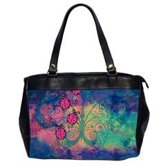 Background Colorful Bugs Office Handbags (2 Sides)  by BangZart