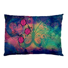 Background Colorful Bugs Pillow Case (two Sides) by BangZart