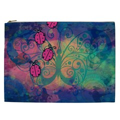 Background Colorful Bugs Cosmetic Bag (xxl)  by BangZart