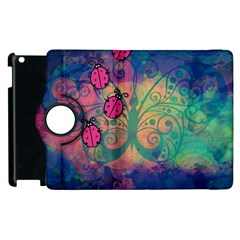 Background Colorful Bugs Apple Ipad 3/4 Flip 360 Case by BangZart