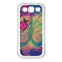 Background Colorful Bugs Samsung Galaxy S3 Back Case (white) by BangZart