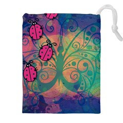 Background Colorful Bugs Drawstring Pouches (xxl) by BangZart