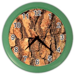 Bark Texture Wood Large Rough Red Wood Outside California Color Wall Clocks by BangZart
