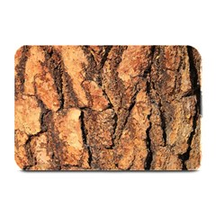 Bark Texture Wood Large Rough Red Wood Outside California Plate Mats by BangZart