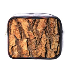 Bark Texture Wood Large Rough Red Wood Outside California Mini Toiletries Bags by BangZart