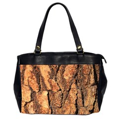 Bark Texture Wood Large Rough Red Wood Outside California Office Handbags (2 Sides)  by BangZart