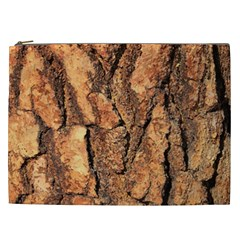 Bark Texture Wood Large Rough Red Wood Outside California Cosmetic Bag (xxl)  by BangZart