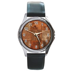 Barnwood Unfinished Round Metal Watch