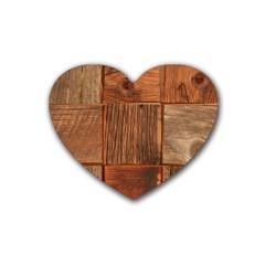 Barnwood Unfinished Heart Coaster (4 Pack)  by BangZart