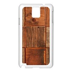 Barnwood Unfinished Samsung Galaxy Note 3 N9005 Case (white) by BangZart