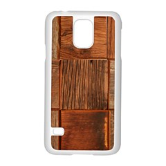 Barnwood Unfinished Samsung Galaxy S5 Case (white) by BangZart