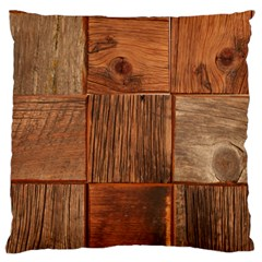 Barnwood Unfinished Large Flano Cushion Case (two Sides) by BangZart