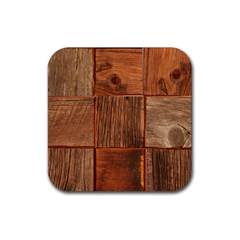Barnwood Unfinished Rubber Coaster (square)  by BangZart