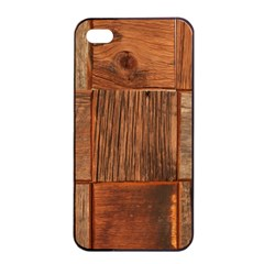 Barnwood Unfinished Apple Iphone 4/4s Seamless Case (black) by BangZart