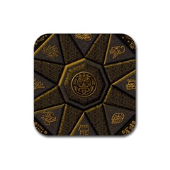 Aztec Runes Rubber Square Coaster (4 Pack)  by BangZart