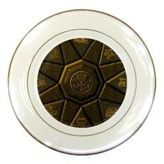 Aztec Runes Porcelain Plates by BangZart
