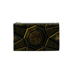 Aztec Runes Cosmetic Bag (small)  by BangZart