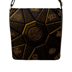 Aztec Runes Flap Messenger Bag (l)  by BangZart