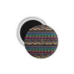 Aztec Pattern Cool Colors 1 75  Magnets by BangZart