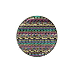Aztec Pattern Cool Colors Hat Clip Ball Marker (4 Pack) by BangZart