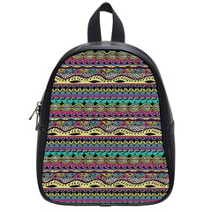 Aztec Pattern Cool Colors School Bags (small)  by BangZart