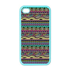 Aztec Pattern Cool Colors Apple Iphone 4 Case (color) by BangZart