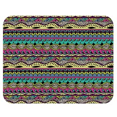 Aztec Pattern Cool Colors Double Sided Flano Blanket (medium)  by BangZart