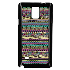 Aztec Pattern Cool Colors Samsung Galaxy Note 4 Case (black) by BangZart