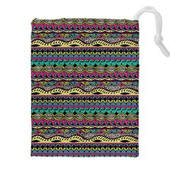 Aztec Pattern Cool Colors Drawstring Pouches (xxl) by BangZart