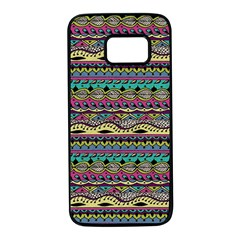 Aztec Pattern Cool Colors Samsung Galaxy S7 Black Seamless Case