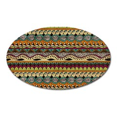 Aztec Pattern Ethnic Oval Magnet by BangZart
