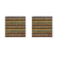 Aztec Pattern Ethnic Cufflinks (square) by BangZart